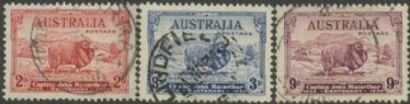 Australia KGV SG150-2 1934 Captain John Macarthur set of 3 (AGCU/475)